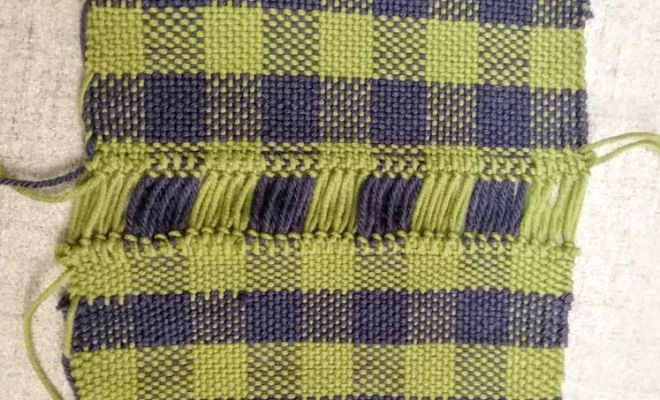 hemstitching woven plaid cloth