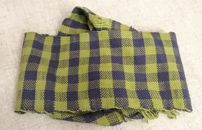 woven green and blue plaid