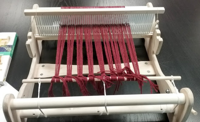 warping a rigid heddle loom