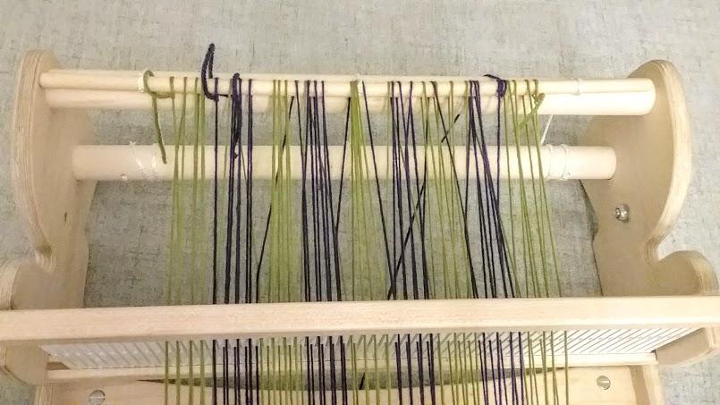 warped rigid heddle loom