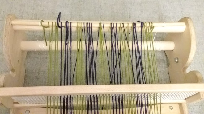 warped rigid heddle loom