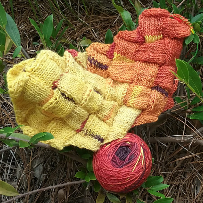 knitting entrelac