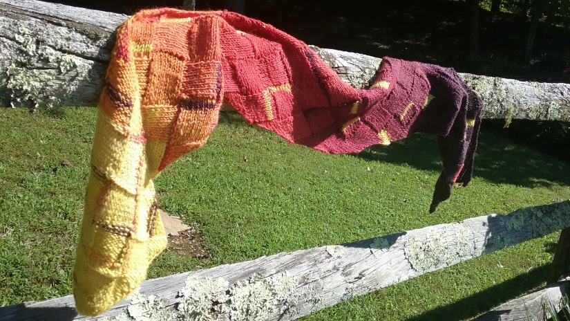 Finished Object: Autumn Entrelac